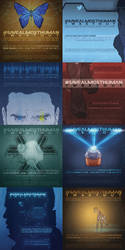 savealmosthuman posters collection by thenizu
