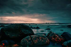 Rocks on the shore by HendrikMandla