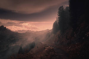 Morning mist on the Ciampinoi trail by HendrikMandla