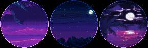 nighttime vaporwave circle divider by cal-vain