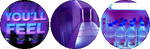 purple glow aesthetic circle divider by cal-vain
