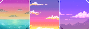 pixel skies square divider by cal-vain