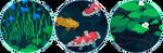 koi fish pixel circle divider by cal-vain