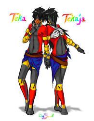 Comm - Teka and Tekaja by Adai-the-human-angel