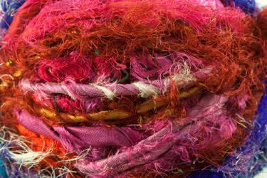 Sari Yarn Texture 2 by joannastar-stock