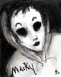 Masky Sketch by skullzhead
