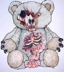 Zombie Teddy by skullzhead