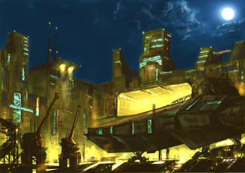 Neo Beijing Shipyards 2073AD by derbz