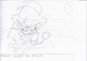 Artemis Dodged The Attack by PuppytheKat