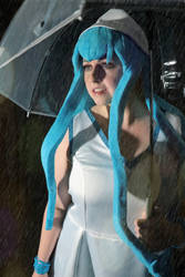 Squid Girl and her umbrella by Elentari-Liv