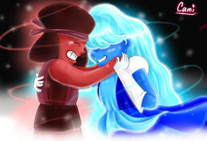 Ruby and Sapphire Steven Universe by CamilaAnims
