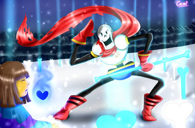 The Great Papyrus!   w/ Speedpaint by CamilaAnims