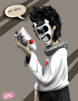 Zacharie from OFF! (w/ Speedpaint) by CamilaAnims