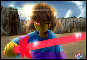 LV, Frisk Speedpaint | Collab with Kitmast! by CamilaAnims