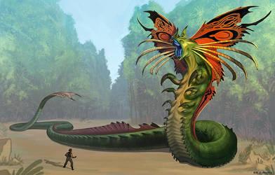 Xeno-quetzalcoatl by GuthrieArtwork