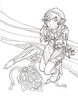 female link - line art by tachi09