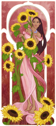 Muchahontas and the sunflowers by Morloth88
