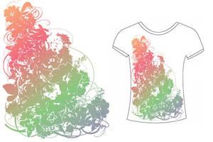 Koana: Tropical Flowers Shirt by tiranaki