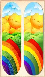 Sunshine and Rainbows Deck by tiranaki