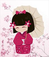 Sakura Kokeshi Doll by tiranaki