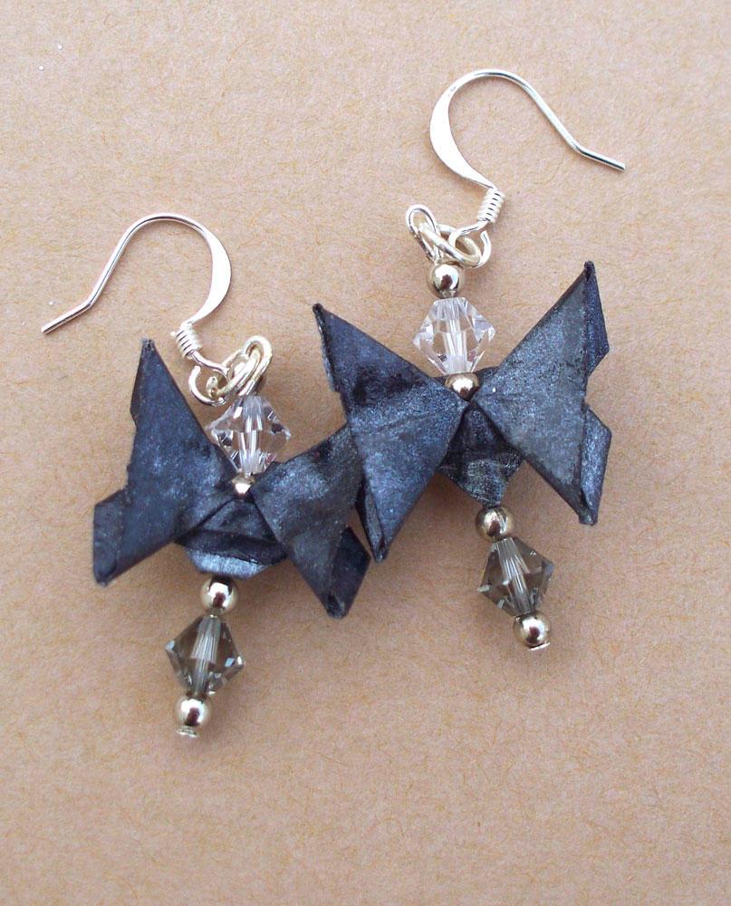 Black Butterfly Earrings by tiranaki