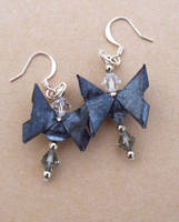 Black Butterfly Earrings by tiranaki