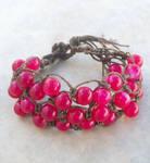 Pink and Brown Hemp Bracelet by tiranaki