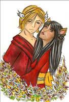 Eyosakura and Jazzkitteh by tiranaki