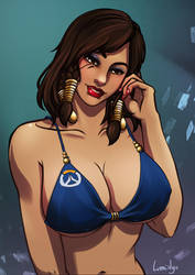 Pharah sketch commission by LumiNyu
