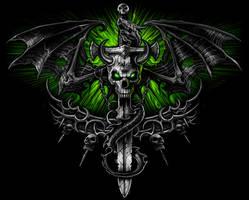 dragon skull by nightrhino