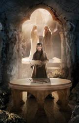 Elrond Half Elven by elbyinart