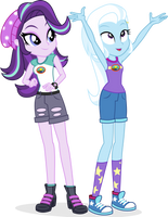 Everfree Starlight and Trixie by punzil504