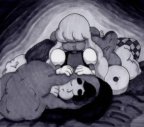 Sleeping Gems: Sapphire by swankivy