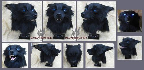 Black wolf mask by MissRaptor