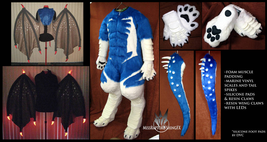 Garnetwolf's suit parts by MissRaptor