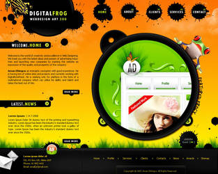 Digital Frog by amandhingra