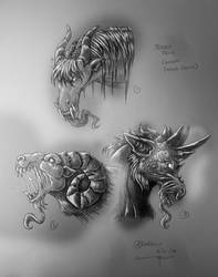 Jersey Devil commission - Headshots by AndrewDeFelice