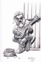 Dwarf Bard sketch by AndrewDeFelice