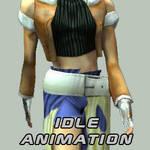 CG Girl Idle Animation by BigGrabowski