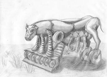 Mechanical Cow by BigGrabowski