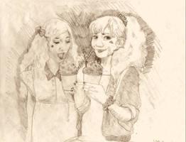 Aiko/Keiko Enjoy Slushies by ep462