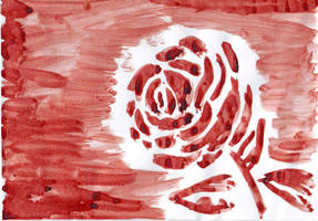 Blood Red Rose by LARvonCL