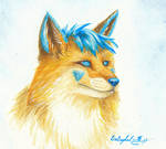 Afoxen - Blue fox by LARvonCL