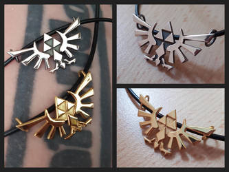 Hyrule Crests pendants by LARvonCL