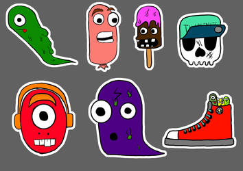 Monster Stickers by TerezaAD