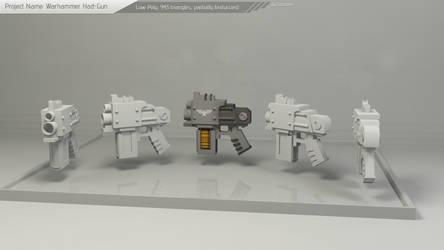 Warhammer Hand-Gun Model by Tooschee