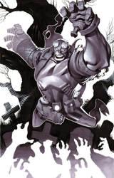 Hellboy- Marker Illo by ChristopherStevens