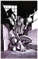 Spider-Woman- Marker Illo by ChristopherStevens