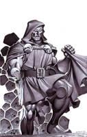 Doctor Doom- Marker Illo by ChristopherStevens