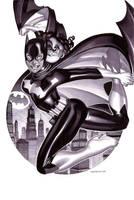 Batgirl- Marker Illo by ChristopherStevens